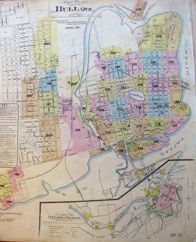 Plan d'assurance incendie de l'ancienne ville de Hull de 1903